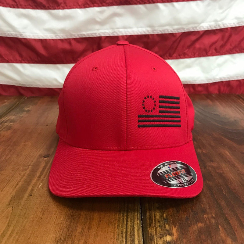 The Black Betsy Ross Flexfit Side Flag Hat