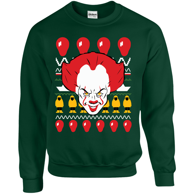 it clown ugly christmas sweater - Dirty Ugly Christmas Sweater