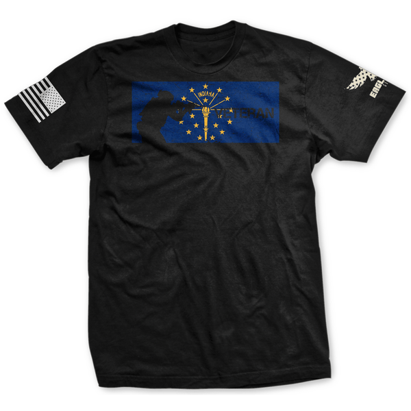 Indiana Veteran Flag Tee