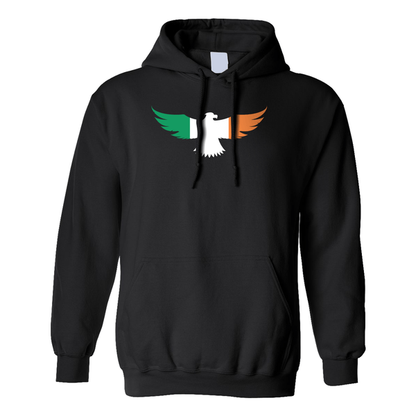 Irish Flag Eagle Hoodie