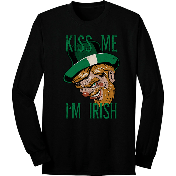 Kiss Me I'm Irish Long Sleeve