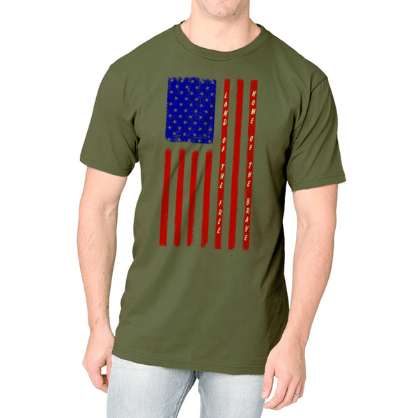 Land Of The Free US Flag Tee
