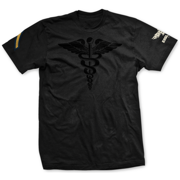 Choose Your Rank Blackout U.S. Army Medical Corps Badge Tee