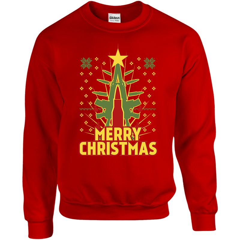 Merry Christmas Ugly Christmas Sweater Eagle Six Gear
