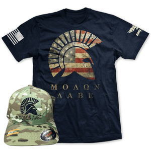 144a038428e Molon Labe Tee and Hat Combo ...