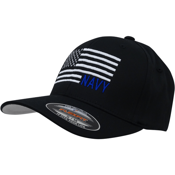 Navy Flag Cap