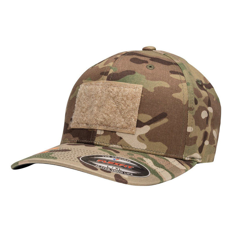 Multicam Tactical Operator Hat with American Flag Rubber PVC Patch with Black Border