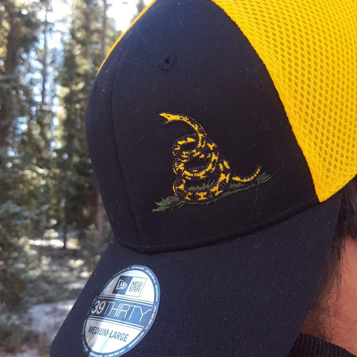 official photos 1dabb c7f16 Don t Tread On Me Stretch Mesh New Era Hat - Eagle Six Gear