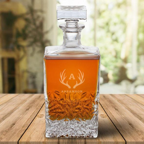 Personalized Rectangular Glass 24 oz. Decanter