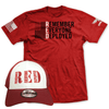 Remember Everyone Deployed Tee and Trucker Hat Combo