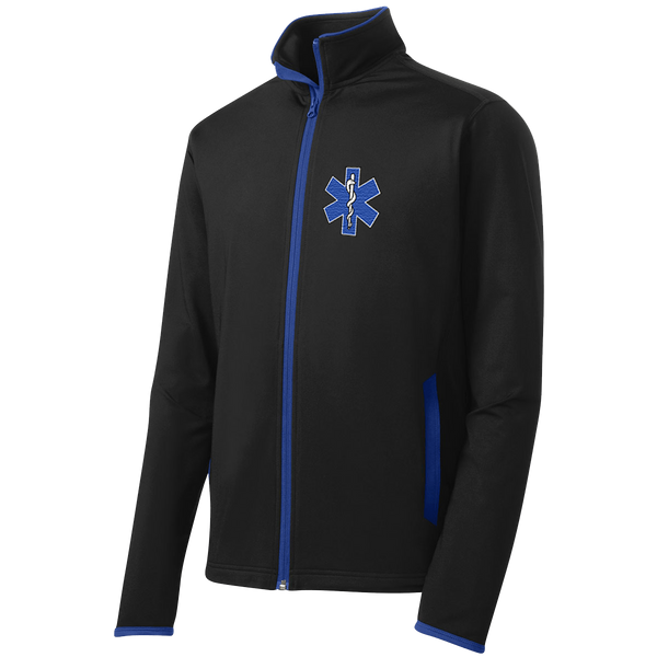 Sport-Tek® EMS Sport-Wick® Stretch Contrast Full-Zip Jacket