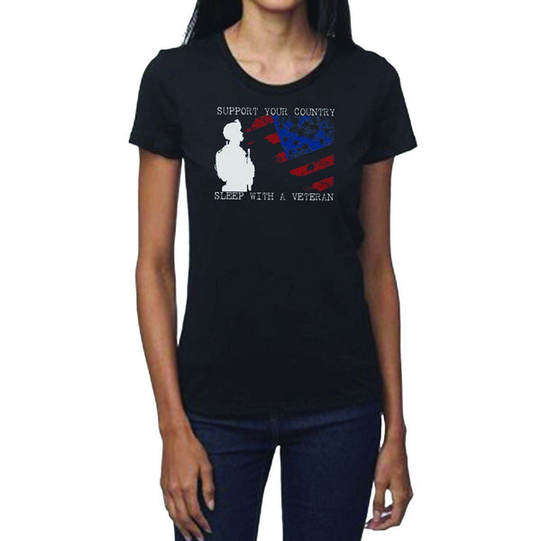 Sleep With A Vet Women's Crew Neck Tee