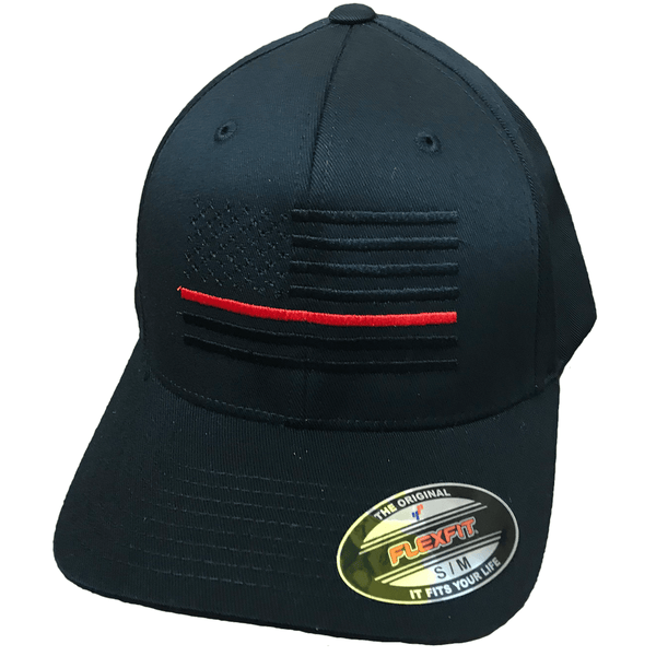Thin Red Line Blackout Flag Hat