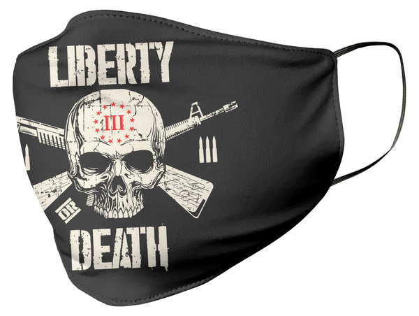 Threeper Liberty Or Death Face Mask