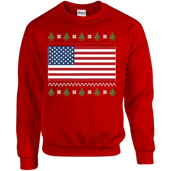 US Flag Ugly Christmas Sweater