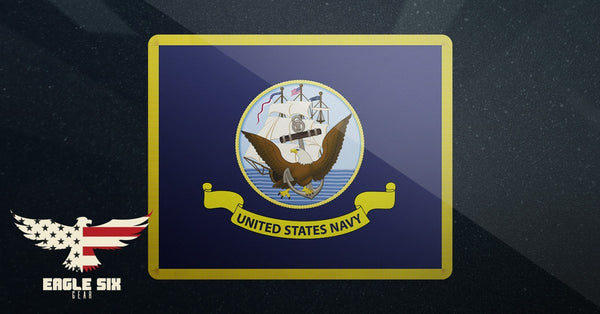 "U.S. Navy Flag Decal 4"" x 3"""