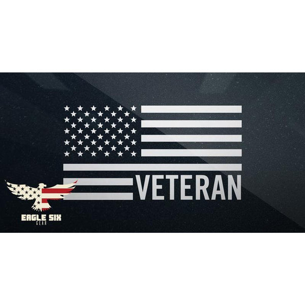 Veteran Flag Decal Small
