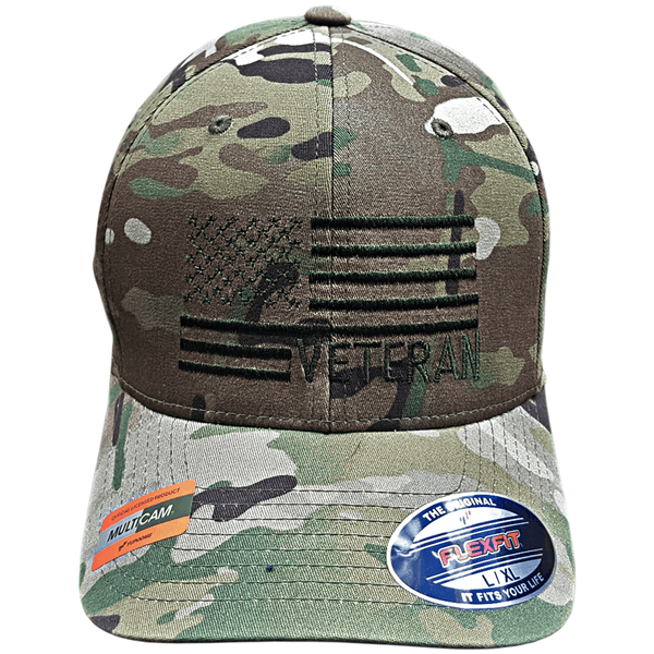 Officially Licensed Multicam Veteran Flag Flexfit Hat