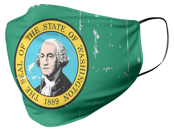 Washington State Flag Face Mask