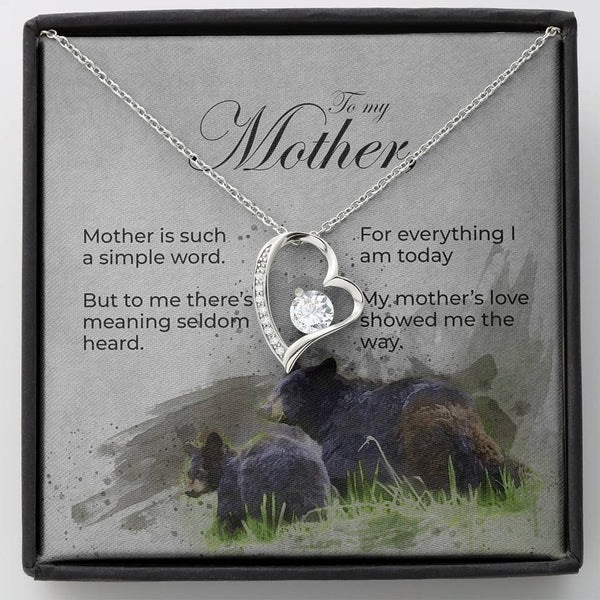 Forever Love Mother's Day Necklace with Message Card