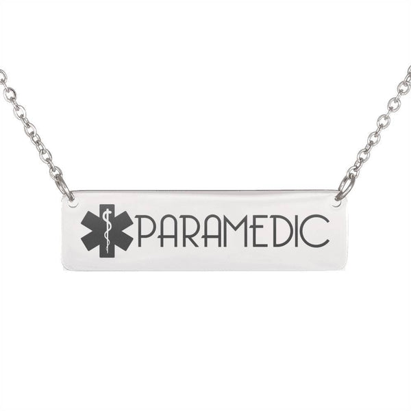 Free Paramedic Horizontal Bar Necklace - Just Pay Shipping