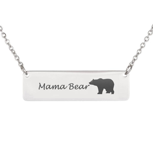 Free Mama Bear Horizontal Bar Necklace - Just Pay Shipping