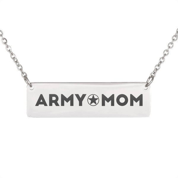 Free Army Mom Horizontal Bar Necklace - Just Pay Shipping
