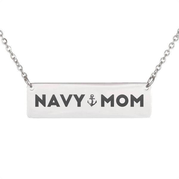 Free Navy Mom Horizontal Bar Necklace - Just Pay Shipping