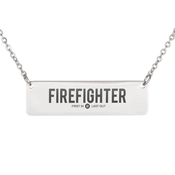 Free Firefighter Horizontal Bar Necklace - Just Pay Shipping