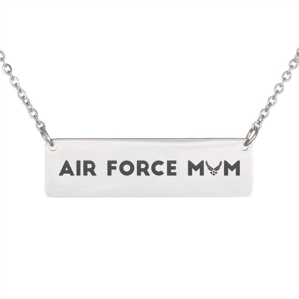 Free Air Force Mom Horizontal Bar Necklace - Just Pay Shipping