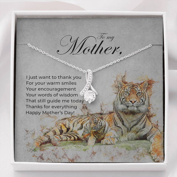 Alluring Beauty Mother's Day Necklace with Message Card