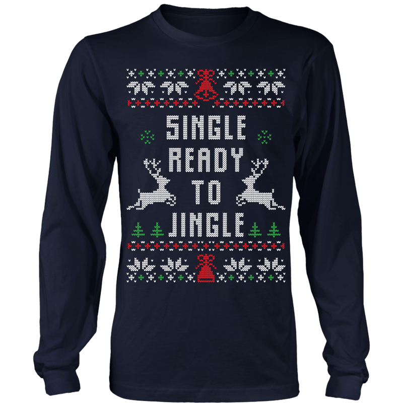 Single Ready to Jingle Ugly Christmas Sweater