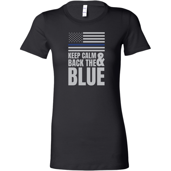 Keep Calm And Back The Blue Women's T-Shirt