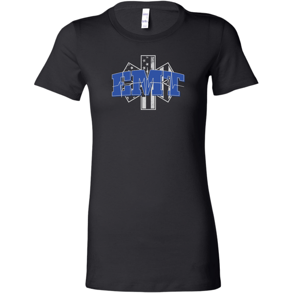 Star of Life EKG Heartbeat Line EMT Women's T-shirt