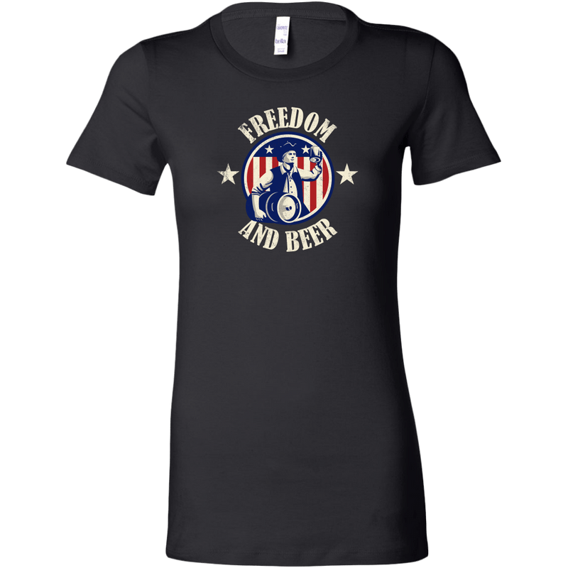 Freedom And Beer Women's T-Shirt