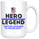 Personalized Police Hero-Legend 15oz Mug