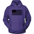 The Black USA Flag Unisex Hoodie