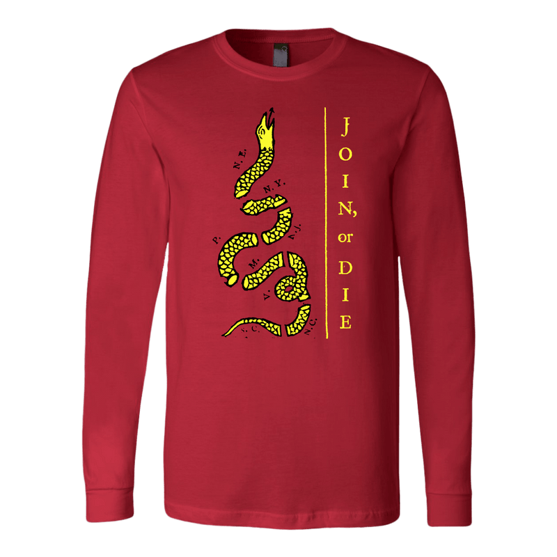 Join Or Die Yellow Snake Long Sleeve Tee
