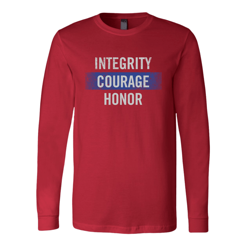 Integrity, Courage, Honor Long Sleeve