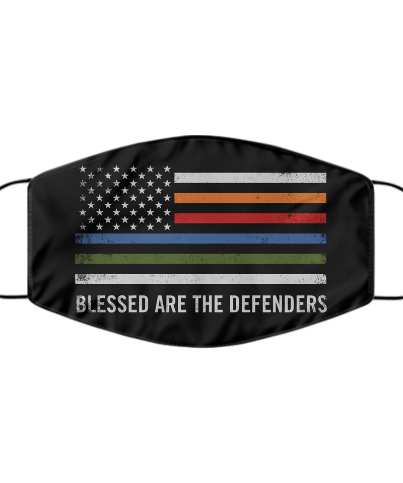 Blessed Are The Defenders Face Mask