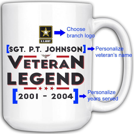 Personalized Veteran/Legend 15oz Mug
