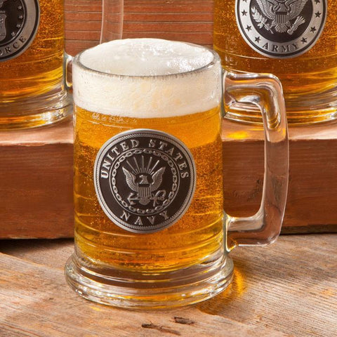 Personalized Military Emblem Steins