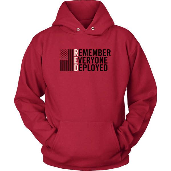 R.E.D - Remember Everyone Deployed Unisex Hoodie