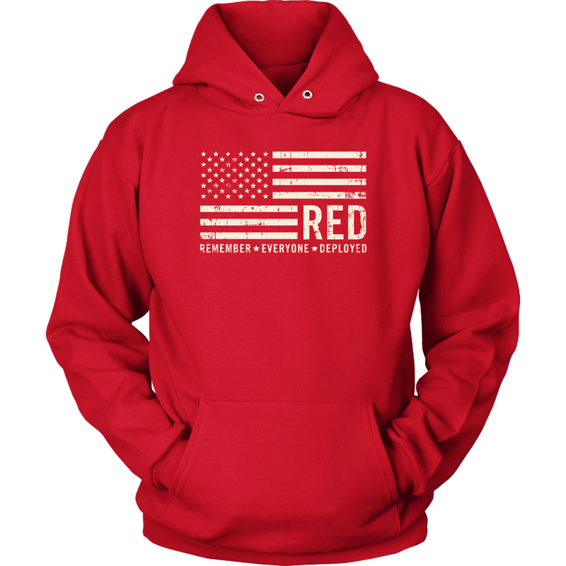 R.E.D - Remember Everyone Deployed US Flag Unisex Hoodie