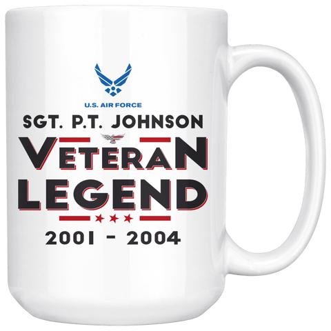 Image of Personalized Veteran/Legend 15oz Mug