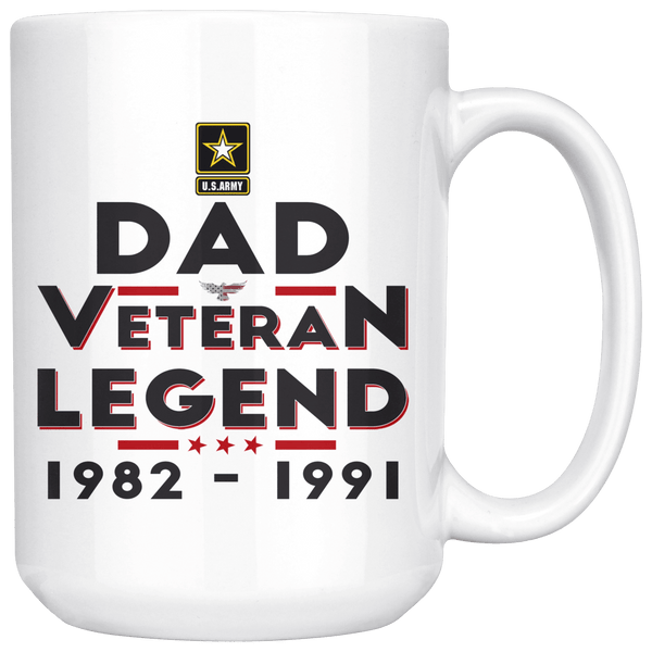 """Dad/Pop/Grandpa"" Veteran-Legend 15oz Mug"