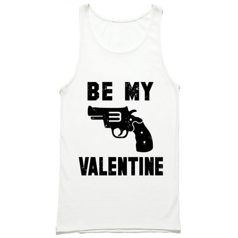 Be My Valentine Gun Tank Top