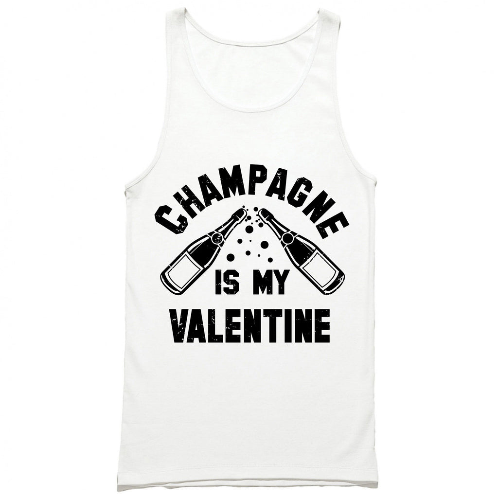 Champagne Is My Valentine Tank Top