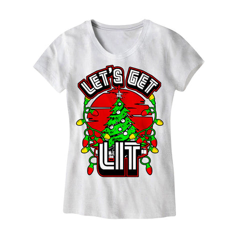Womens Lets Get Lit T-Shirt