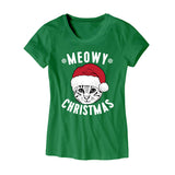 Womens Meowy Christmas T-Shirt